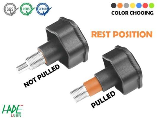 Warning Indexing plungers (rest position) - PW100F