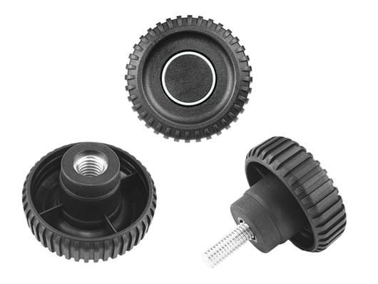 K150 - Fluted grip knobs