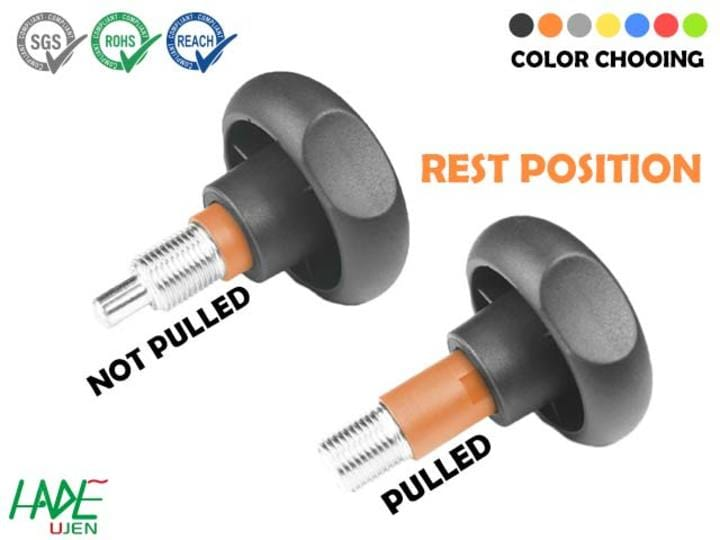 Warning Indexing plungers (rest position) - PWK100F